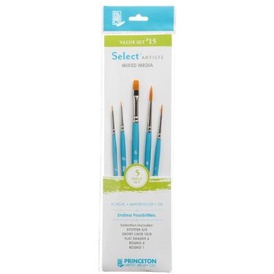 Select Artiste Short-Handle Brush Value Set, #15 (5 Piece)