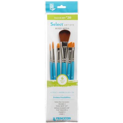 Select Artiste Short-Handle Brush Value Set, #20 (6 Piece)