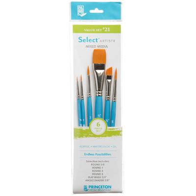 Select Artiste Short-Handle Brush Value Set, #21 (6 Piece)