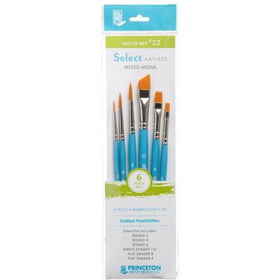 Select Artiste Short-Handle Brush Value Set, #22 (6 Piece)