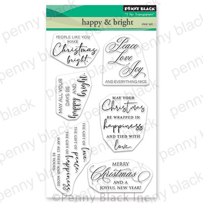 Clear Stamp, Happy & Bright