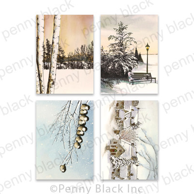 3.25X4.5 Cardstock Panels, Snowfall Serenity