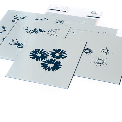 Layering Stencil Set, Floral Bunch