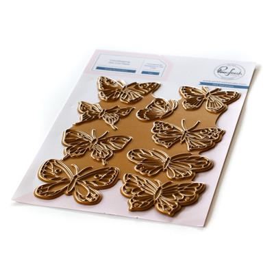 Hot Foil Plate, Small Butterflies