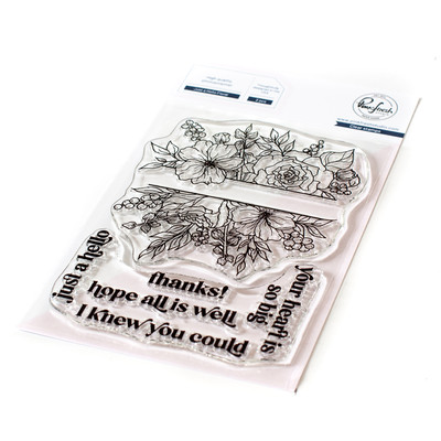 Clear Stamp, Just a Hello Floral