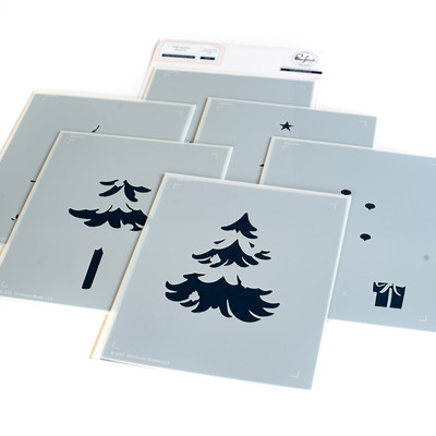 Layering Stencil Set, Under the Christmas Tree