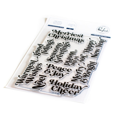 Clear Stamp, Perfect Sentiments: Holiday