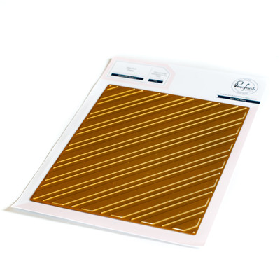 Hot Foil Plate, Diagonal Stripes