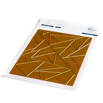 Hot Foil Plate, Abstract Triangles