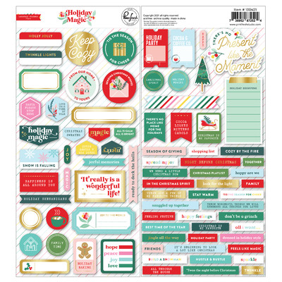 Cardstock Stickers, Holiday Magic