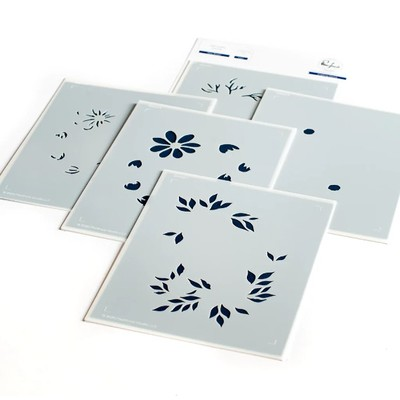 Layering Stencil Set, Daisy Wreath