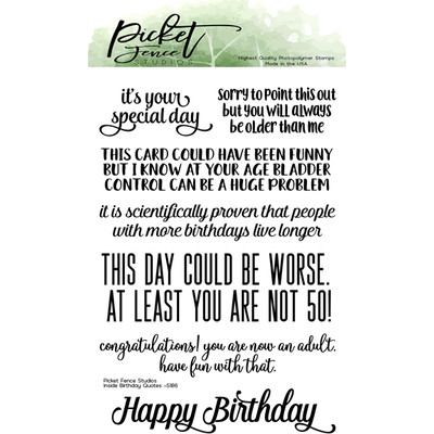 Clear Stamp, Inside Quotes:  Birthday