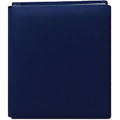 8.5X11 Bonded Leather Family Treasures Scrapbook, Navy Blue