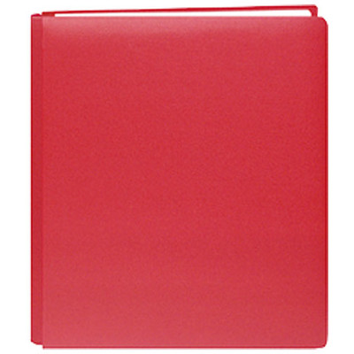 8.5X11 Bonded Leather Family Treasures Scrapbook, Red