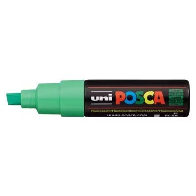 Paint Marker, PC-8K Broad Chisel - Fluorescent Green
