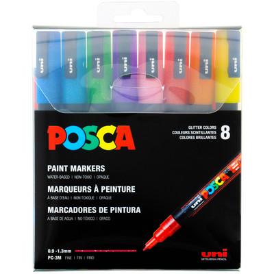 Paint Marker Set, PC-3M Fine - Glitter (8 Colors)