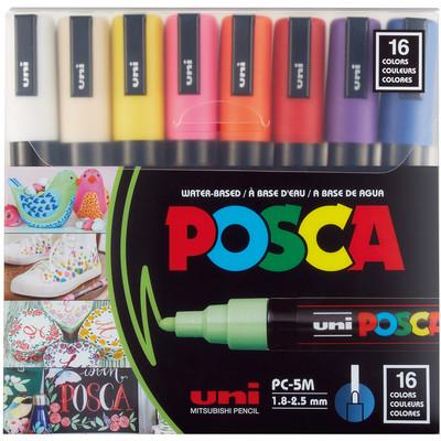 Paint Marker Set, PC-5M Medium - Basic (16 Colors)