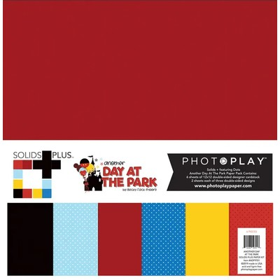 12X12 Solids Paper Pack, Another Day at the Park