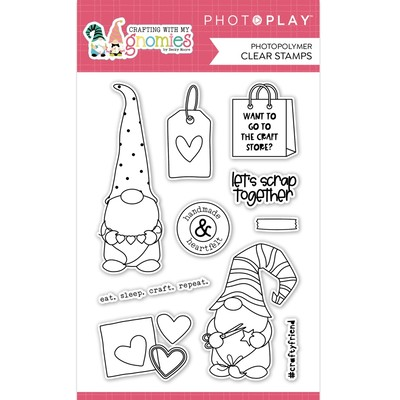 Clear Stamp, Crafting With My Gnomies