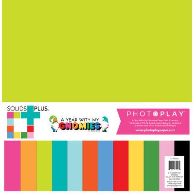 12X12 Solids+ Paper Pack, Gnome Calendar