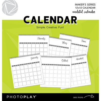 12X12 Calendar, Undated (Spiral Bound)