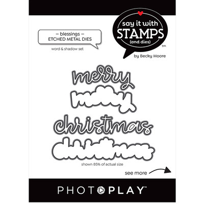 Say It With Stamps Die, Merry Christmas