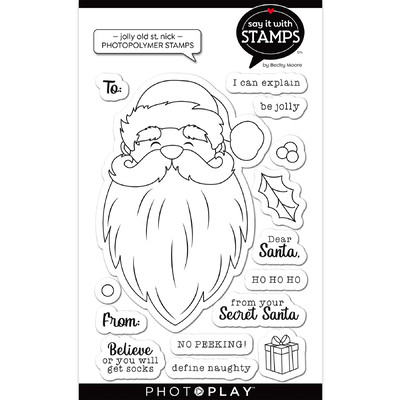 Say It With Stamps Clear Stamp, Jolly Old St. Nick