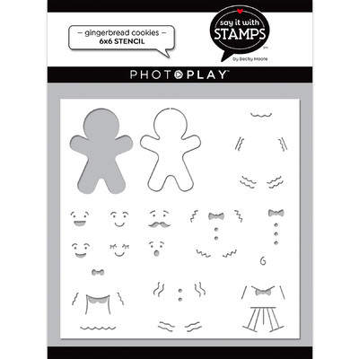 Say It With Stamps Stencil, Gingerbread Cookies