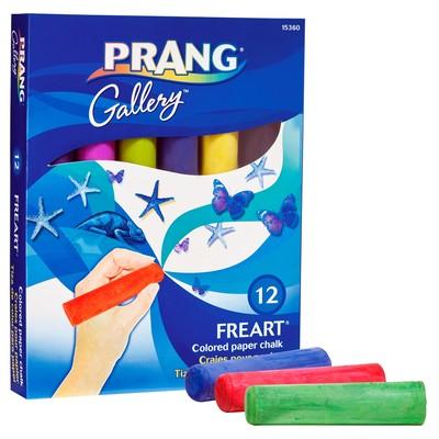 Freart Colored Paper Chalk Set, 12 Colors
