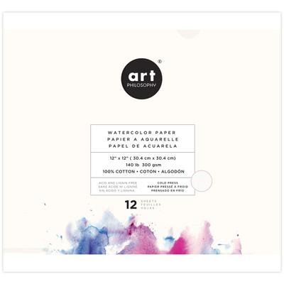 Art Philosophy 12X12 Watercolor Paper Pad