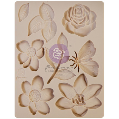 Silicone Mould, Watercolor Floral