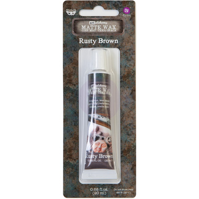 Art Alchemy Matte Wax Paste, Rusty Brown