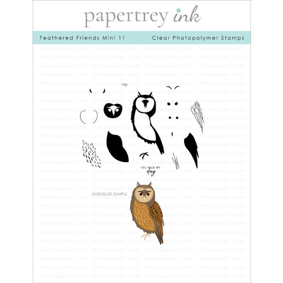 Clear Stamp, Feathered Friends Mini 11
