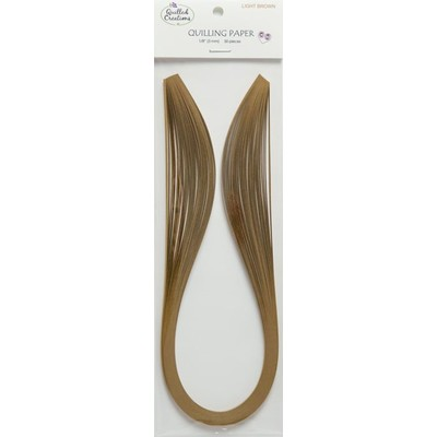 Solid Color Quilling Papers, Light Brown 1/8""