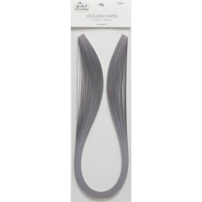 Solid Color Quilling Papers, Grey 1/8""