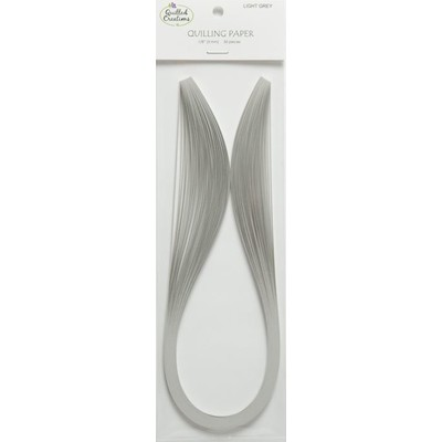 Solid Color Quilling Papers, Light Grey 1/8""