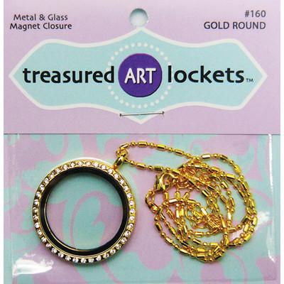 Locket, Gold Round