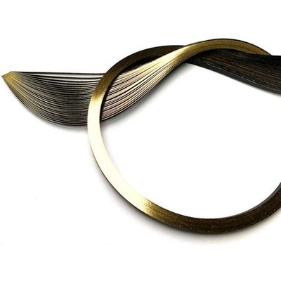 """Metallic Edged Quilling Papers, Gold Edge on Black 1/8"""""""