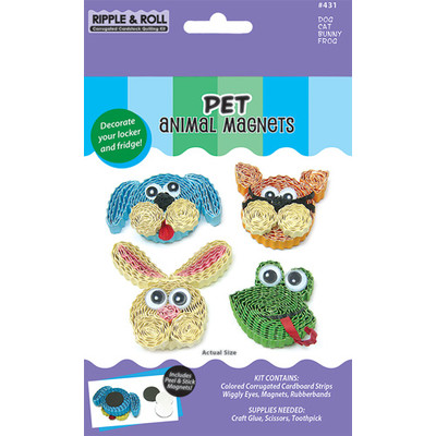 Quilling Kit, Pet Animal Magnets