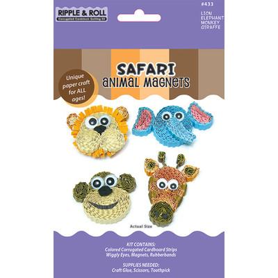 Quilling Kit, Safari Animal Magnets