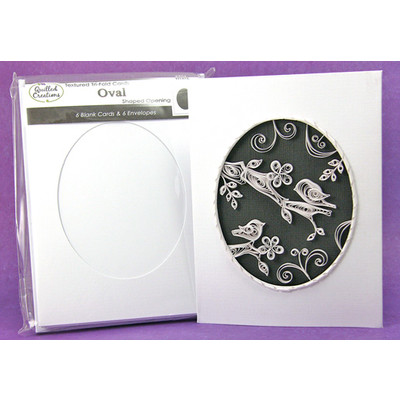 Cards & Envelopes, Oval Tri-Fold