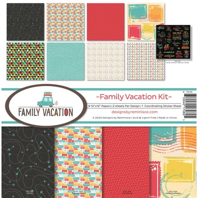 12X12 Collection Kit, Family Vacation