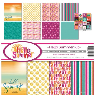 12X12 Collection Kit, Hello Summer