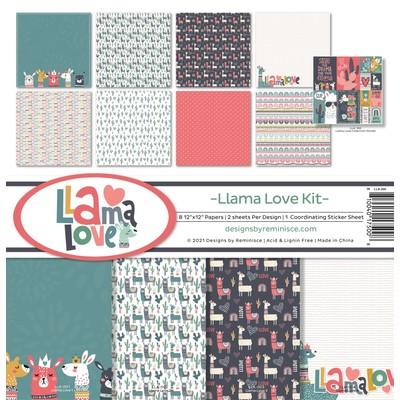 12X12 Collection Kit, Llama Love