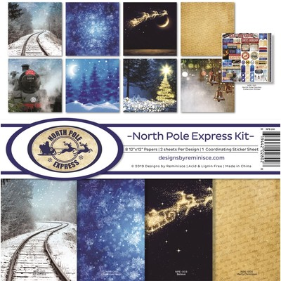 12X12 Collection Kit, North Pole Express