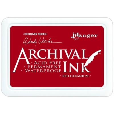 Archival Ink Pad, Red Geranium