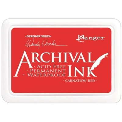 Archival Ink Pad, Carnation Red