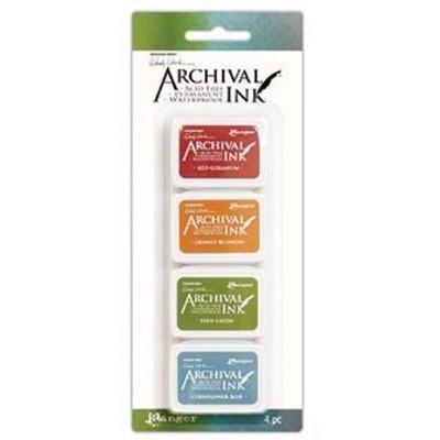 Archival Mini Ink Pads, Wendy Vecchi Kit 4