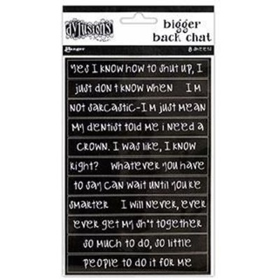 Dylusions Bigger Back Chat Stickers, Black