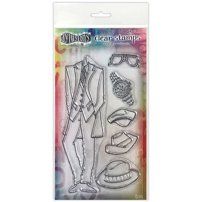 Dylusions Couture Clear Stamp, A Day at the Races